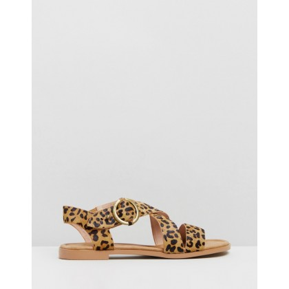 Chase Sandals Tan Leopard by Walnut Melbourne