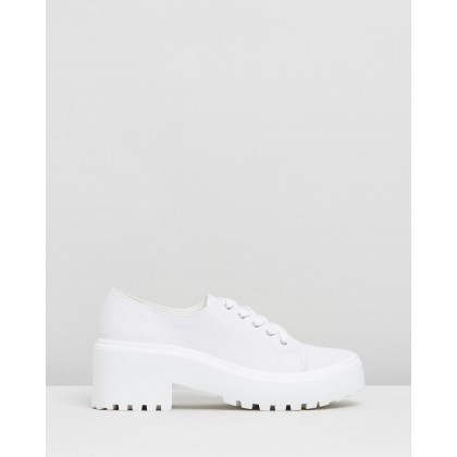 Chase Sneakers White Canvas by Dazie