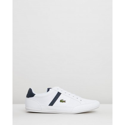 Chaymon - Men's White & Navy by Lacoste