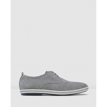 Chaz Derby Shoes Grey by Aq By Aquila