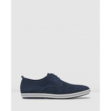 Chaz Derby Shoes Navy by Aq By Aquila