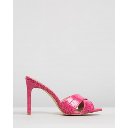 Chelrida Heels Hot Pink Croc by Spurr