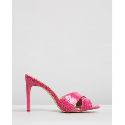Chelrida Heels Hot Pink Croc by Spurr