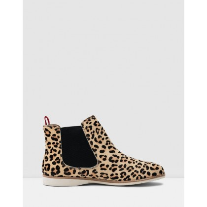 Chelsea Boots Camel Leopard by Rollie