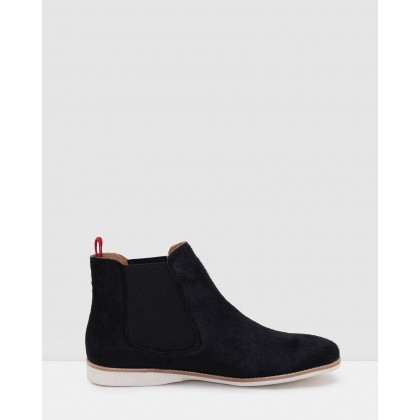 Chelsea Boots Black Pony by Rollie
