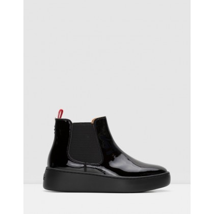 Chelsea City Boots Black Patent by Rollie