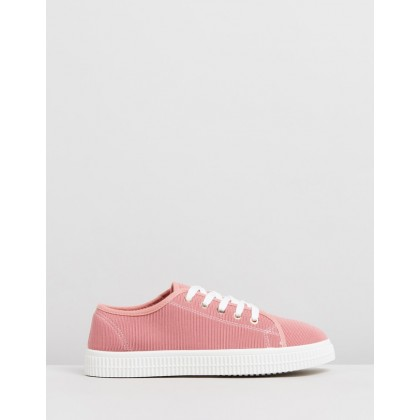 Chelsea Creeper Sole Shoes Ash Rose Rib by Rubi