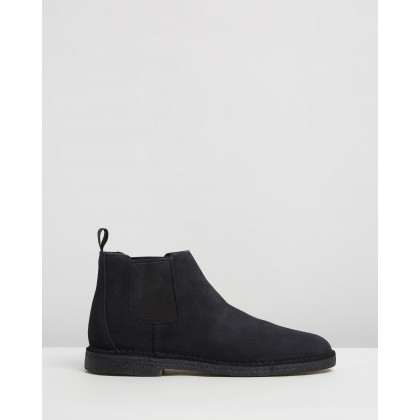 Chelsea Desert Boots Black by Clarks Originals