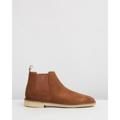 Chelsea Desert Boots Cola by Clarks Originals