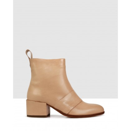 Chester Ankle Boots Naturale by Beau Coops