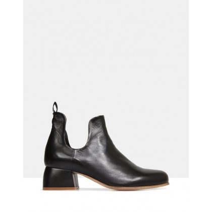 Chestnut Ankle Boots BLACK by Beau Coops