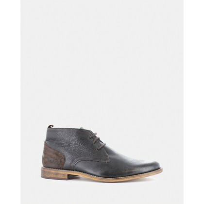 Chism Lace-Up Boots Black by Wild Rhino