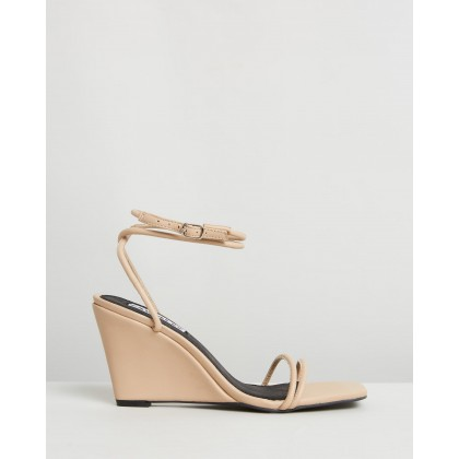 Chloe Wedges Taupe by Caverley