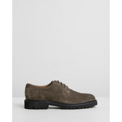 Christie Suede Derby Shoes Khaki by Double Oak Mills
