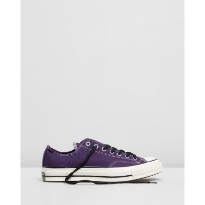 Chuck 70 Organic Canvas Sneakers - Unisex Grand Purple, Black & Egret by Converse