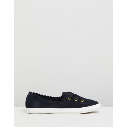 Chuck Taylor All Star Ballet Lace Ox - Women's Black, Gold & Egret by Converse