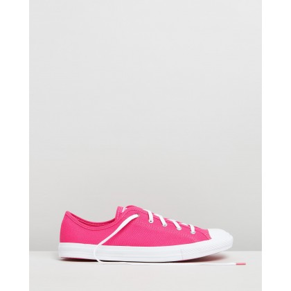 Chuck Taylor All Star Dainty Iridescent Sneakers - Women's Prime Pink, White & Silver by Converse