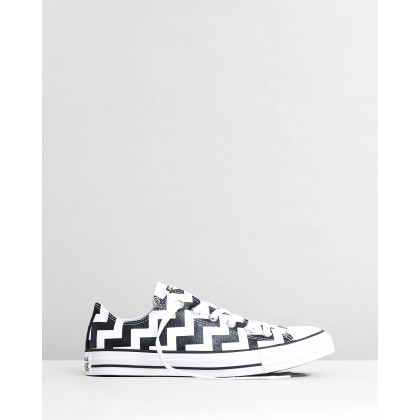 Chuck Taylor All Star Glam Dunk Low Top Sneakers White & Black by Converse