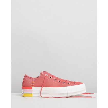 Chuck Taylor All Star Lift Rainbow - Women's Coastal Pink, Light Redwood & Vintage White by Converse