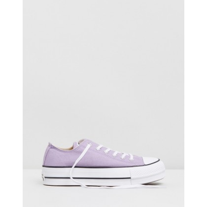 Chuck Taylor All Star Lift - Women's Washed Lilac, Black & White by Converse