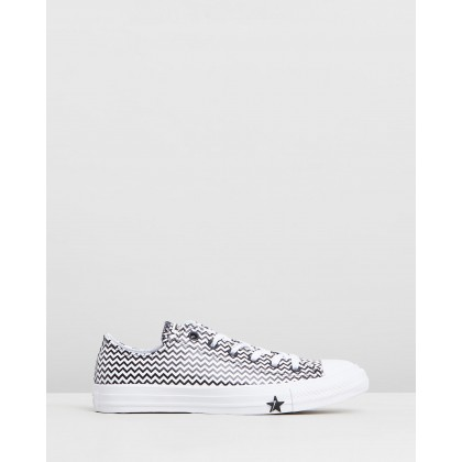 Chuck Taylor All Star Mission-V Low Top Sneakers White & Converse Black by Converse