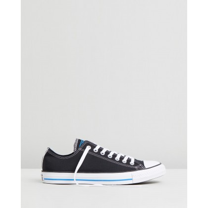 Chuck Taylor All Star Ox - Unisex Black, Totally Blue & White by Converse