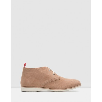 Chukka Boots Embroidered Taupe by Rollie