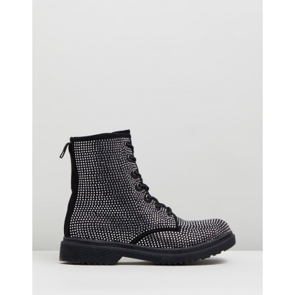 Chunky Sole Ankle Boots Black by Missguided