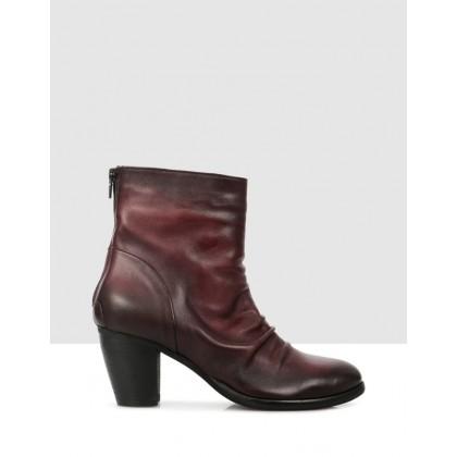 Cinzia Ankle Boots Bordo by S By Sempre Di