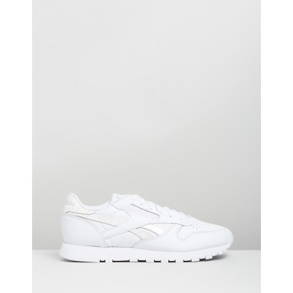 CL Leather - Women's White & Solid Grey by Reebok