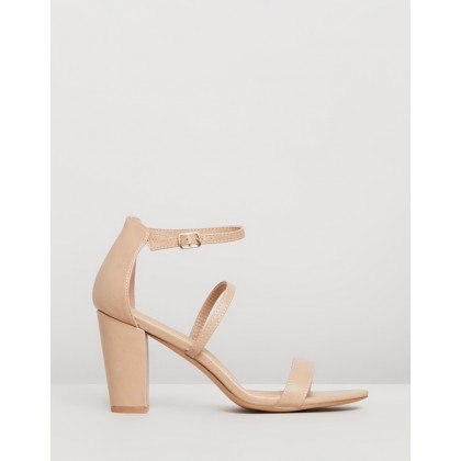 Claris Block Heels Nude Smooth by Spurr