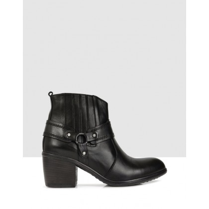 Clarissa Ankle Boots Black by S By Sempre Di