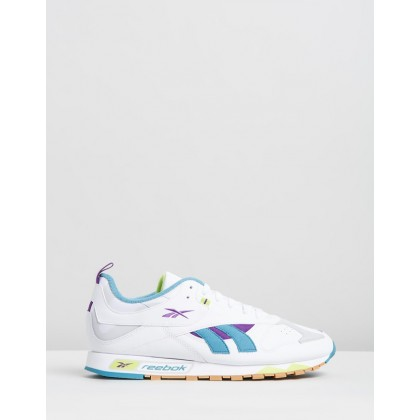 Classic Leather RC 1.0 - Unisex White, Regal Purple & Skull Grey by Reebok