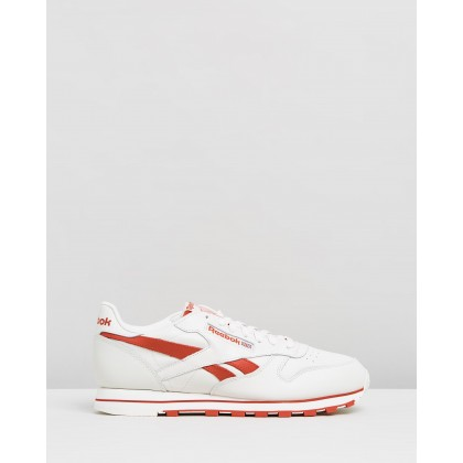 Classic Leather - Unisex Chalk & Primal Red by Reebok