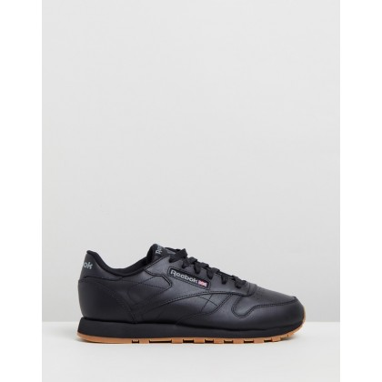 Classic Leather - Women's Black & Gum by Reebok