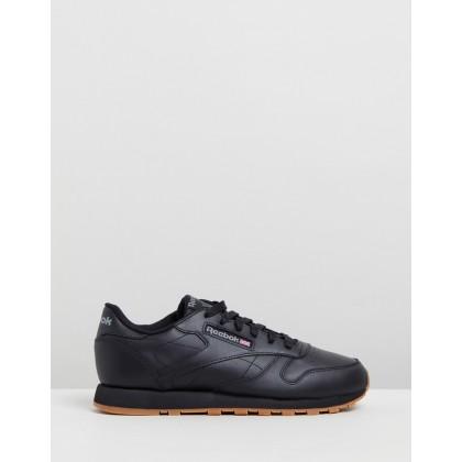 Classic Leather - Women's Black & Gum by Reebok