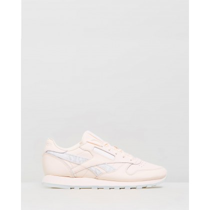 Classic Leather - Women's Pale Pink, White & Steel by Reebok