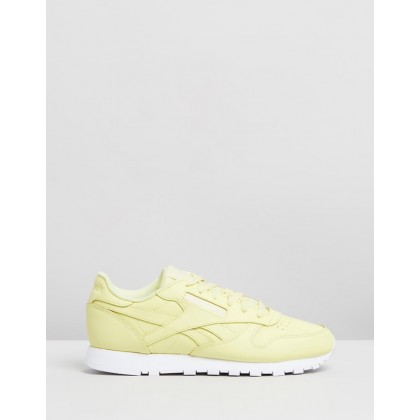 Classic Leather - Women's Filtered Yellow & White by Reebok