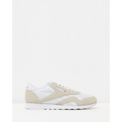 Classic Nylon White & Light Grey by Reebok