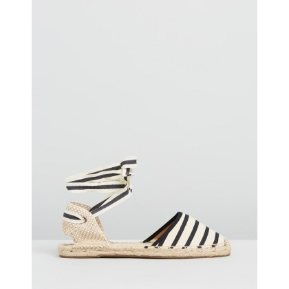 Classic Sandals Natural & Black by Soludos