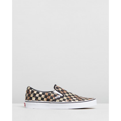 Classic Slip-On - Men's Checkerboard Camo Desert & True White by Vans