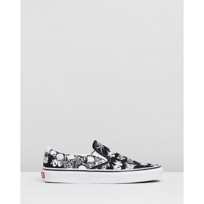 Classic Slip-On - Unisex Forgotten Bones Black & True White by Vans