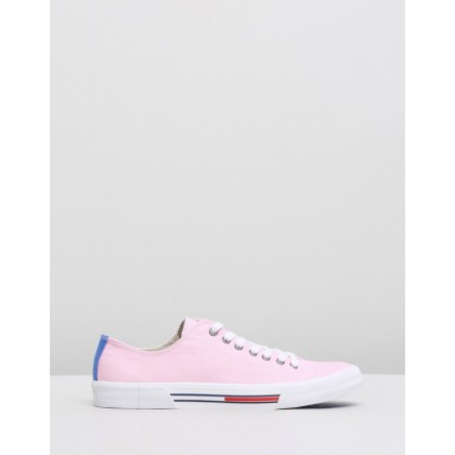 Classic Tommy Jeans Sneakers - Women's Pink Mist by Tommy Hilfiger