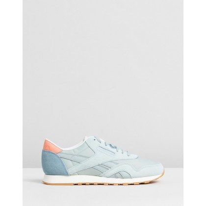 Classics Nylon Mesh Sneakers - Women's Sea Spray, Teal & Pink by Reebok