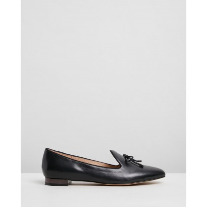 Claudia Loafers Black Leather by Jo Mercer