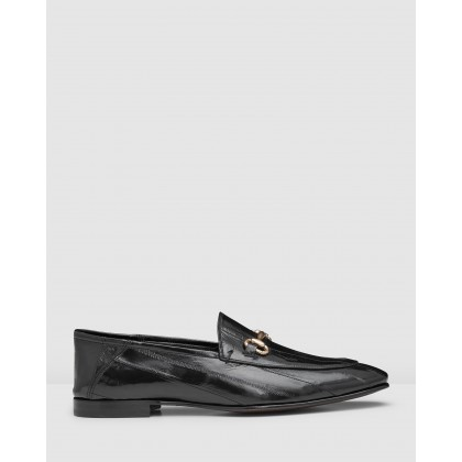 Clemence Loafers Black by Aquila