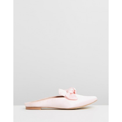 Clementine Satin Mules Blush by Walnut Melbourne