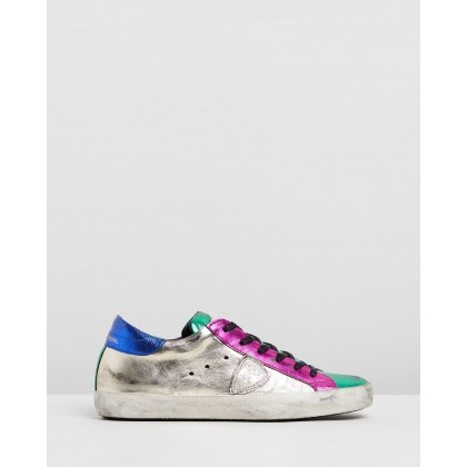 CLLD Sneakers Metallic Pop Silver, Pink & Green by Philippe Model