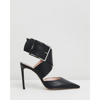 Closed Point Toe Heels Black by Schutz