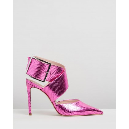 Closed Point Toe Heels Pink by Schutz